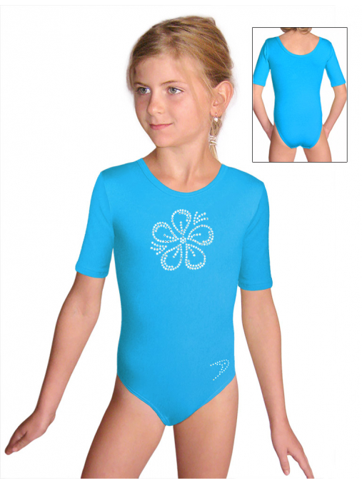 Gymnastický dres S37k_f4 tyrkysová