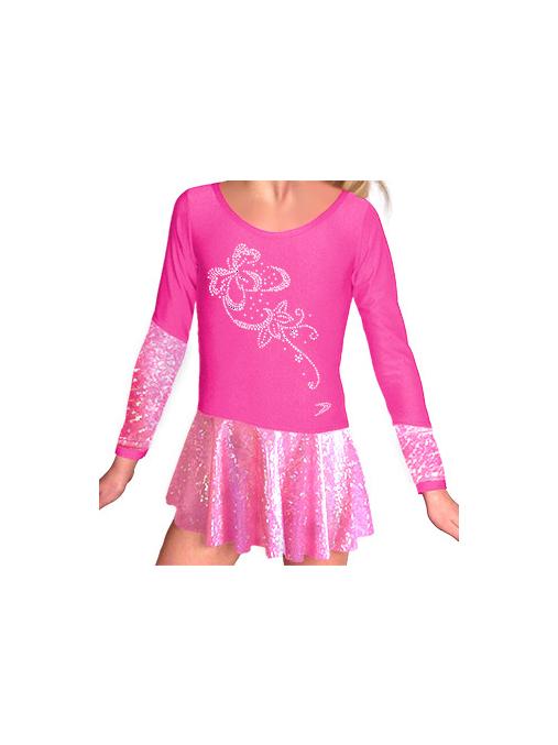 Krasobruslařské šaty - trikot K703 růžová