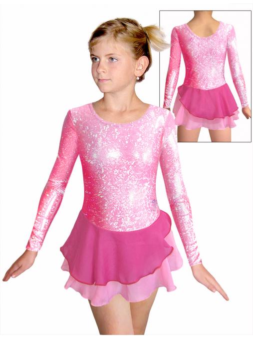 Krasobruslařské šaty - trikot K729 růžová