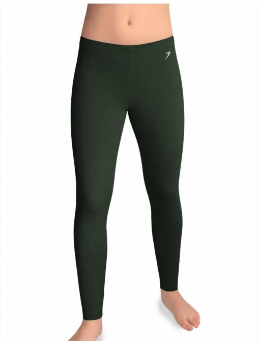 Sportovní legíny dlouhé T36dfl fleece khaki