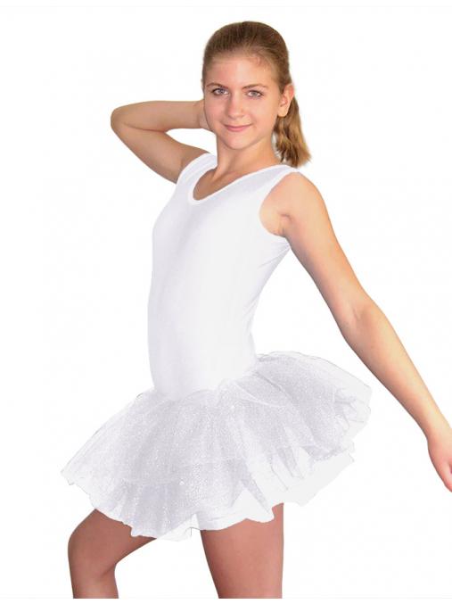 Baletní sukně tylová D801x bílá