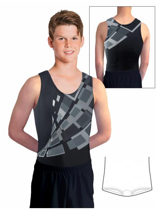 Gymnastický dres chlapecký D37chn_t404 černá