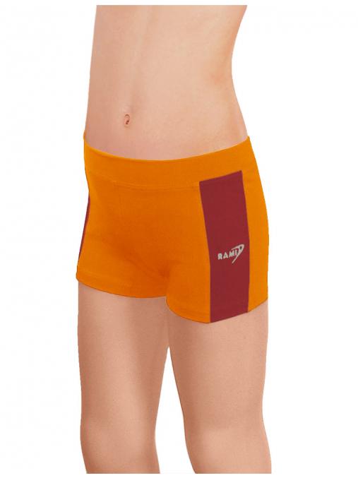 Sportovní legíny krátké B36k-dvx oranžová s tmavě červenou