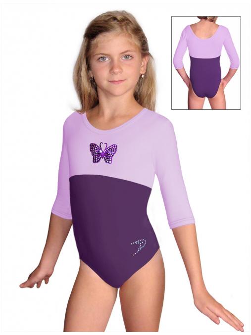 Gymnastický dres B37tr-dv_n53 fialová