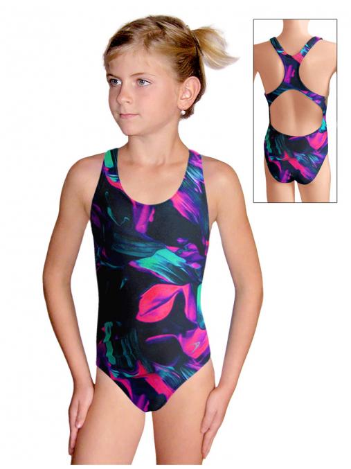 Dívčí sportovní plavky jednodílné PD622 v500