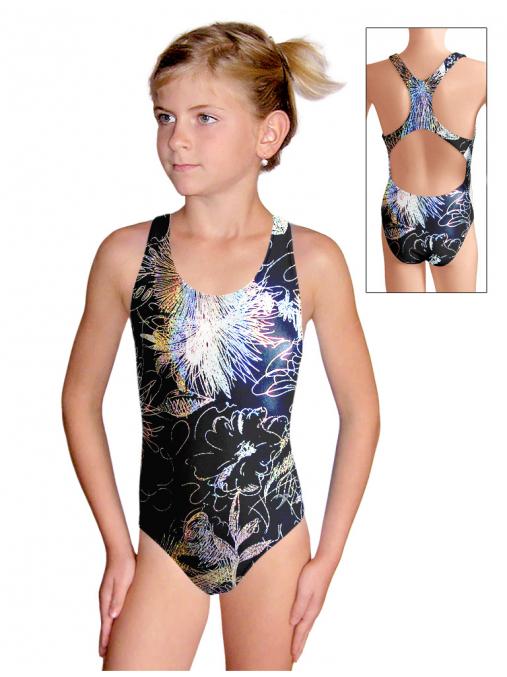 Dívčí sportovní plavky jednodílné PD622 v498