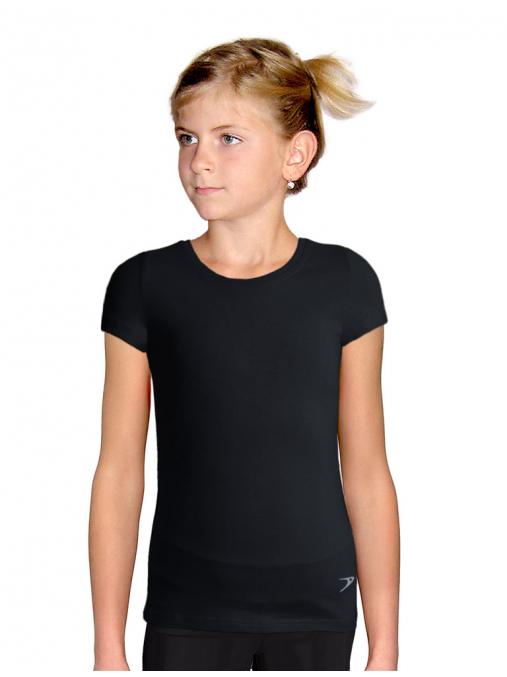 Sportovní tričko B347 černá elastická bavlna