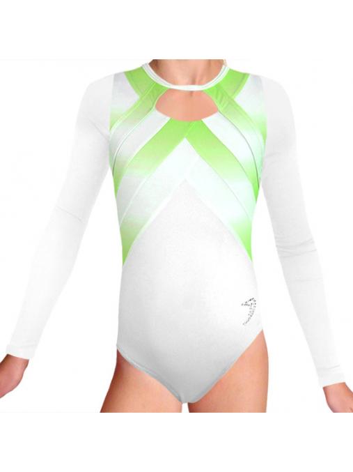 Gymnastický dres závodní D37d-66 t122 bílozelená