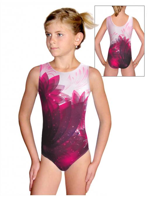 Gymnastický dres D37r t140 růžová