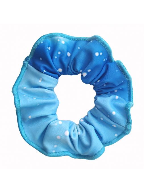 Gumička do vlasů - scrunchie - t207 modrá