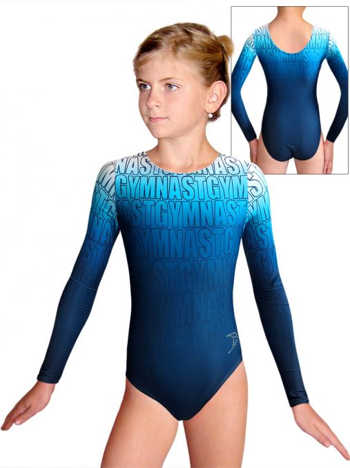 Gymnastický dres D37d t150 modrá