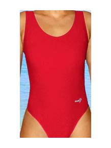 Dámské sportovní plavky jednodílné P1 červená
