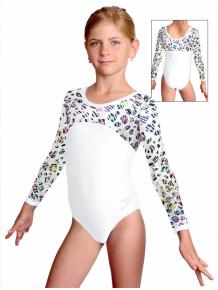 Gymnastický dres závodní D37d-1v463 bílá