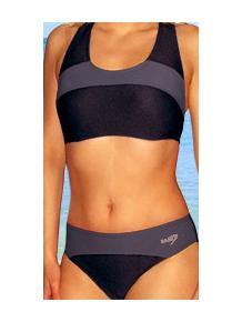 Dámské sportovní plavky dvoudílné P276 černá s šedou