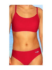Dámské sportovní plavky dvoudílné P277 červená