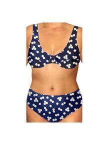 Dámské plavky dvoudílné pro plnoštíhlé s kosticemi P41v68x