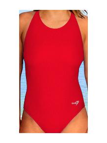 Dámské sportovní plavky jednodílné P620 červená