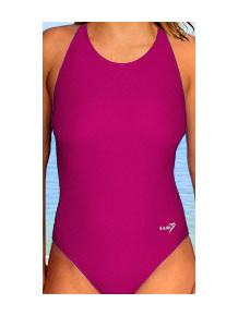 Dámské sportovní plavky jednodílné P620 tmavě růžová