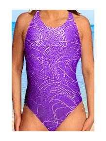 Dámské sportovní plavky jednodílné P621v431