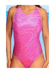 Dámské sportovní plavky jednodílné P621v458