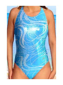Dámské sportovní plavky jednodílné P621v470