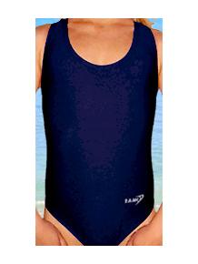 Dívčí sportovní plavky jednodílné PD31 tmavě modrá