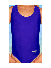 Dívčí sportovní plavky jednodílné PD31 královská modř