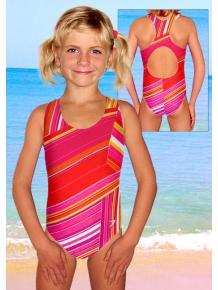 Dívčí sportovní plavky jednodílné PD31v198