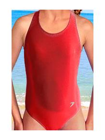 Dívčí sportovní plavky jednodílné PD545sl červená