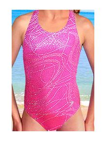 Dívčí sportovní plavky jednodílné PD545v458