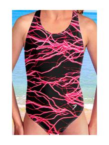 Dívčí sportovní plavky jednodílné PD545v343