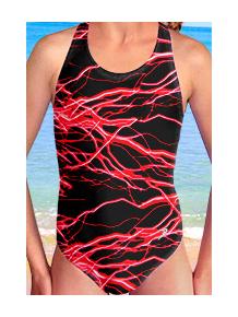 Dívčí sportovní plavky jednodílné PD545v450