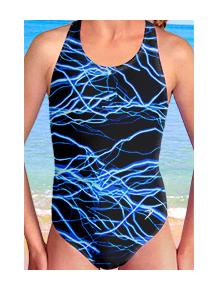 Dívčí sportovní plavky jednodílné PD545v345