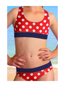 Dívčí sportovní plavky dvoudílné PD541v483