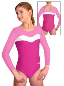 Gymnastický dres B37d-24 růžovo-bílá