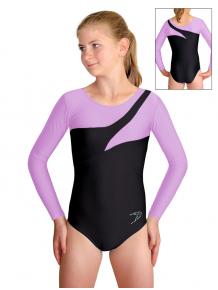Gymnastický dres B37d-29 černo-fialová