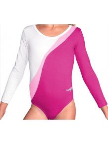Gymnastický dres B37d-4 růžovo-bílá