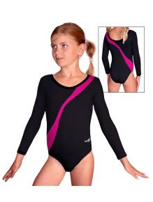 Gymnastický dres B37d-4b černo-růžová