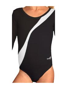 Gymnastický dres B37d-4b černo-bílá