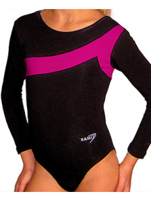 Gymnastický dres B37d-7 černo-růžová