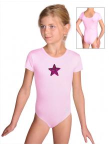 Gymnastický dres B37kk_n7 světle růžová