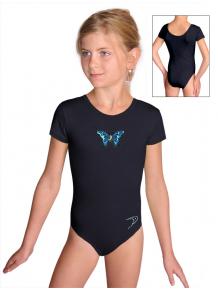 Gymnastický dres B37kk_n1 černá