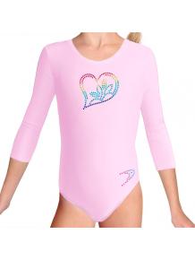 Gymnastický dres B37tr_f5b světle růžová