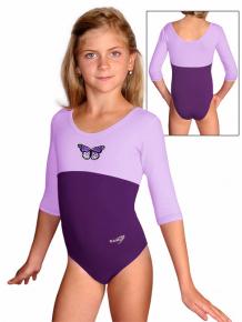 Gymnastický dres B37tr-dv_n35 fialová