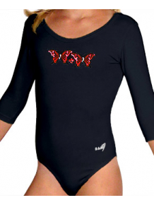 Gymnastický dres S37tr_n3 černá