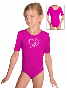 Gymnastický dres S37k_f5 tmavě růžová