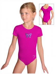 Gymnastický dres S37kk_n53 tmavě růžová