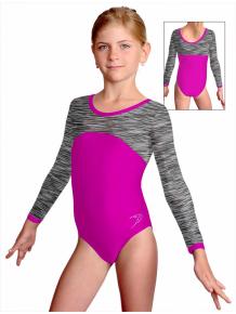 Gymnastický dres S37d-1 růžovo-šedá