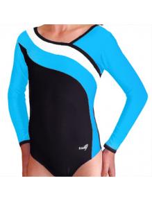 Gymnastický dres S37d-16 černo-tyrkysovo-bílá