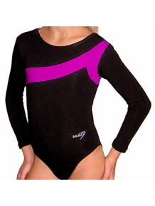 Gymnastický dres S37d-7 černo-tmavě růžová